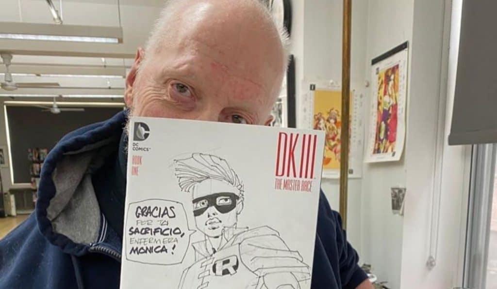 El dibujante de Batman dedica una ilustración a una enfermera de Madrid