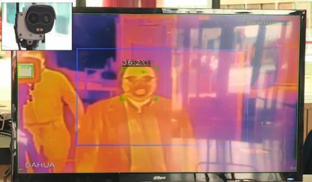 Hospital de IFEMA: instalan una cámara que mide la temperatura corporal al momento