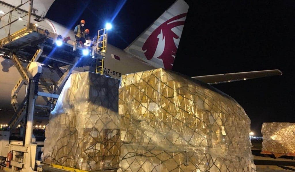 Llega a Madrid un avión con 58 toneladas de material sanitario