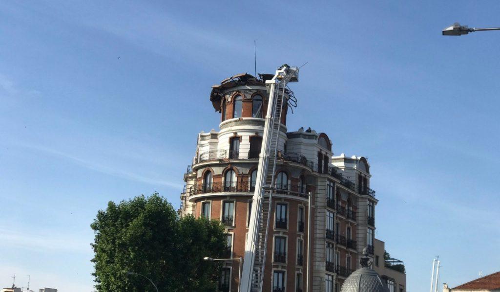 Se ha derrumbado la cúpula de este mítico edificio madrileño