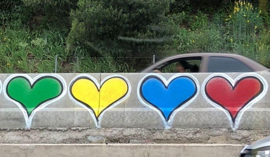 Los corazones de la M-30 serán borrados en una campaña de limpieza