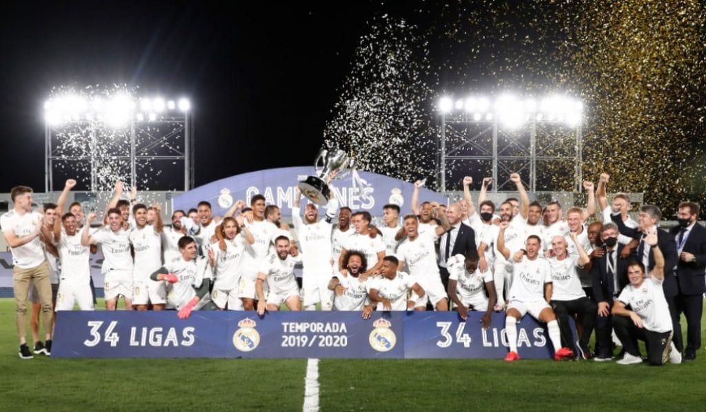 El Madrid gana la Liga y la celebración de los madridistas es ejemplar