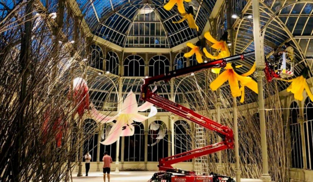La exposición de flores gigantes que triunfa en el Palacio de Cristal