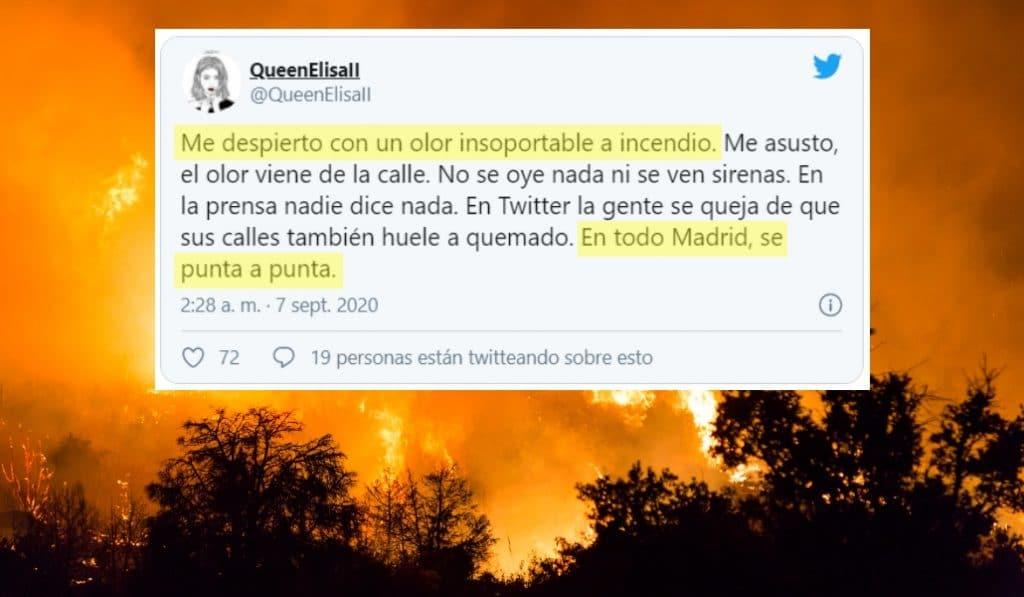 ¿Por qué anoche olía a quemado en todo Madrid?