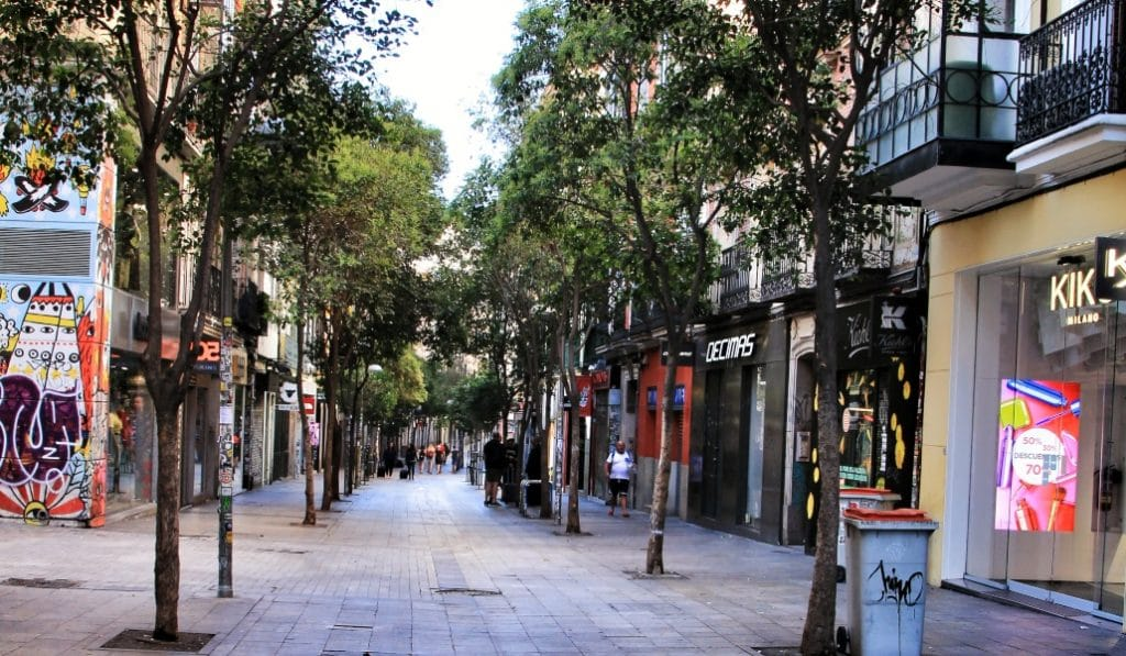Madrid es la ciudad con el menor ratio de kilómetros peatonalizados de España