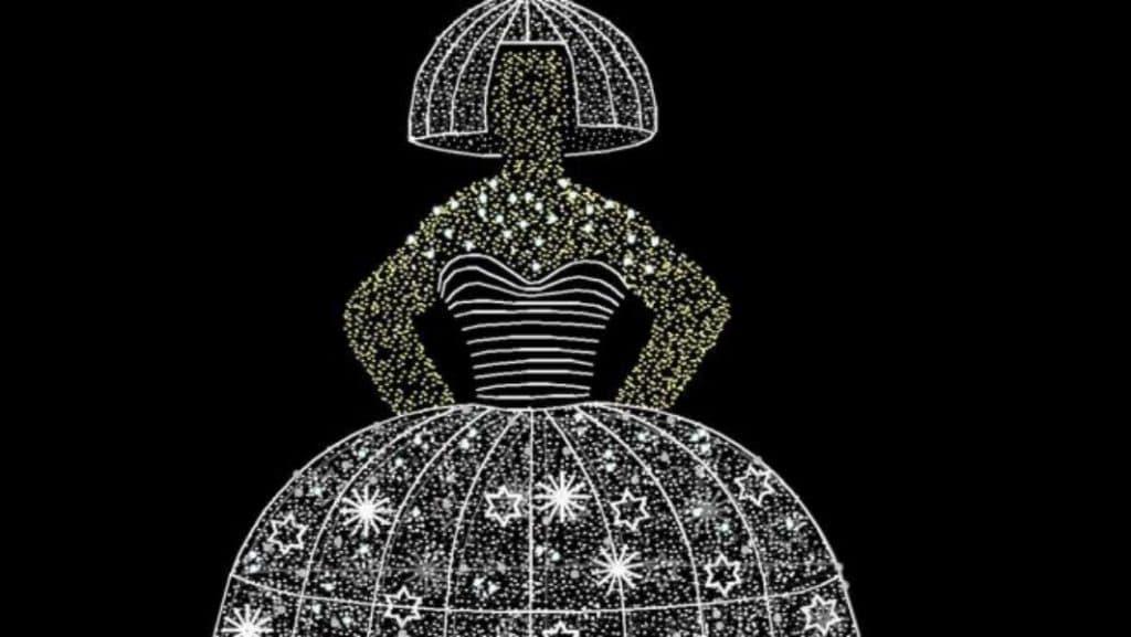 Una Menina enorme alumbrará las Navidades madrileñas
