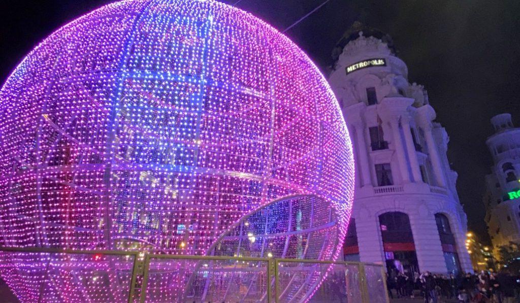 Así fue el momento en que se encendieron las luces de Navidad en Madrid