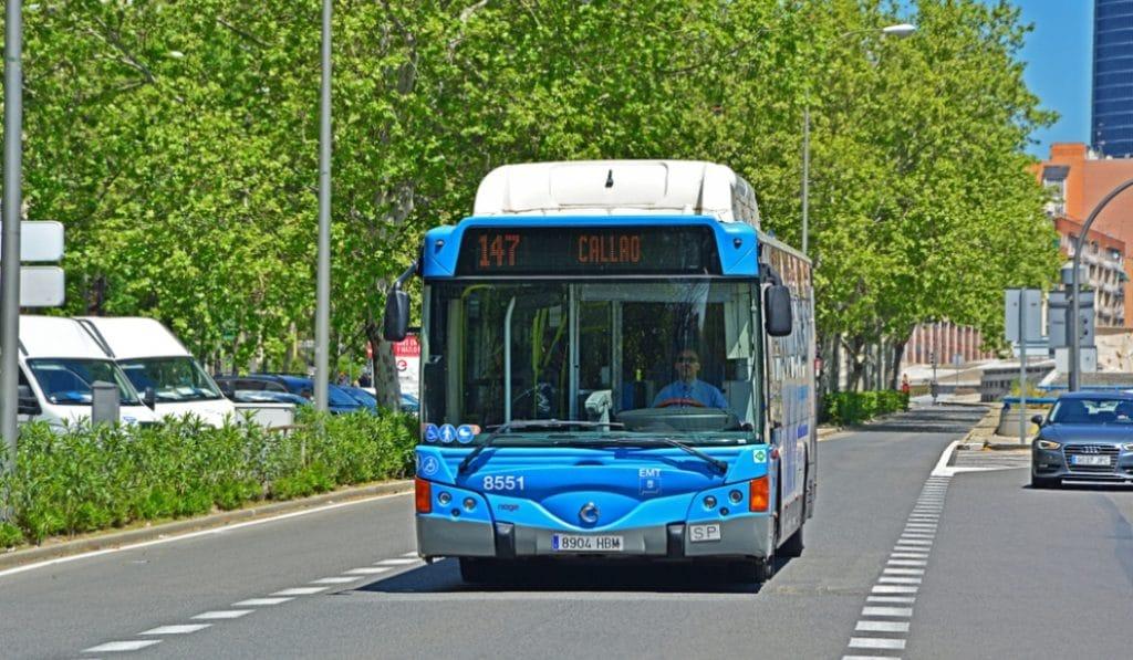 Los buses de la EMT serán gratuitos el lunes, el martes y el miércoles