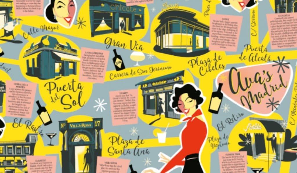 Crean un mapa ilustrado para recorrer el Madrid de Ava Gardner