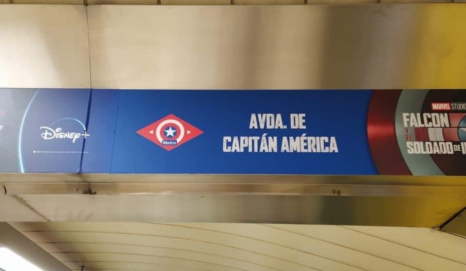 El Metro de Avenida de América ahora es Avenida del Capitán América