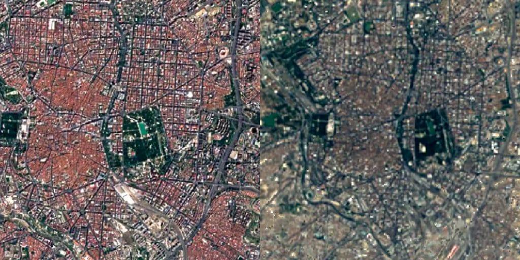 Google enseña cómo ha cambiado Madrid en los últimos 40 años