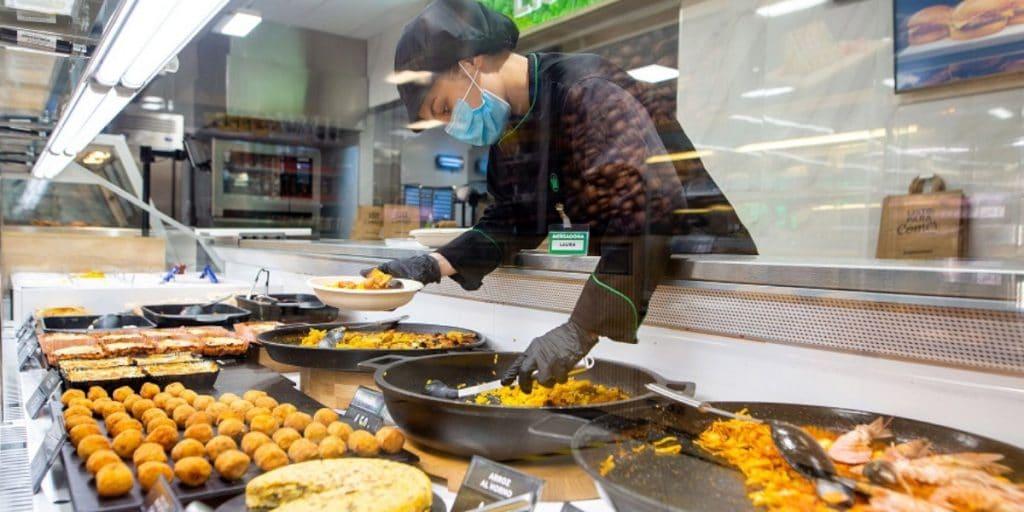 ¿En qué supermercados de Mercadona hay sección de comida para llevar?