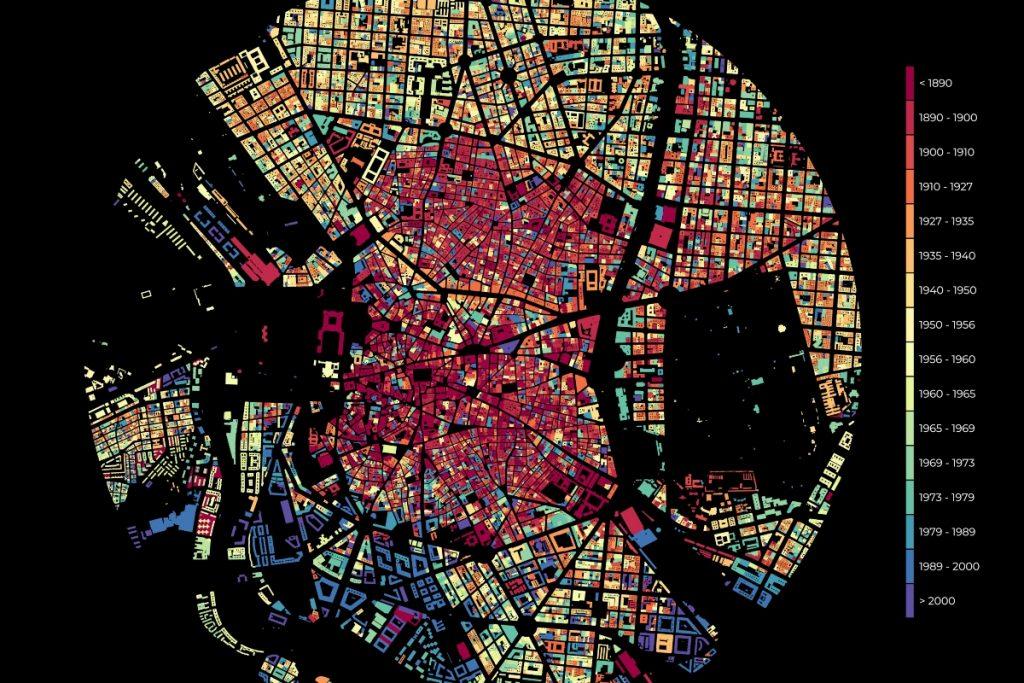 El increíble mapa que refleja el crecimiento urbano de Madrid