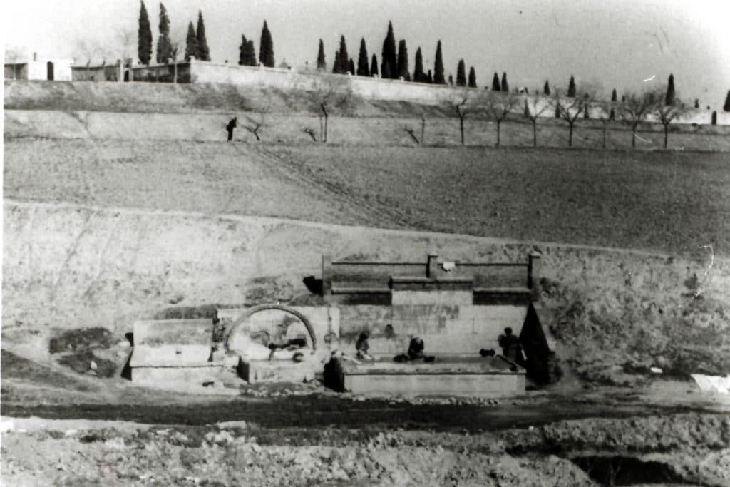 Madrid quiere conservar esta fuente desenterrada durante unas obras en Vicálvaro
