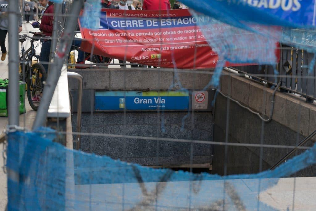 Se cumplen 1000 días de obras en la estación de Gran Vía