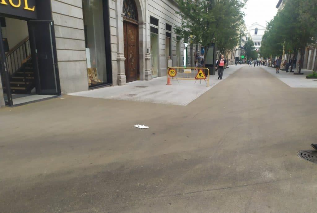 ¿Por qué han asfaltado las calles Montera y Arenal?