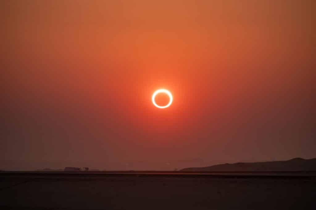 Así es el eclipse anular de Sol que se podrá ver este jueves en Madrid