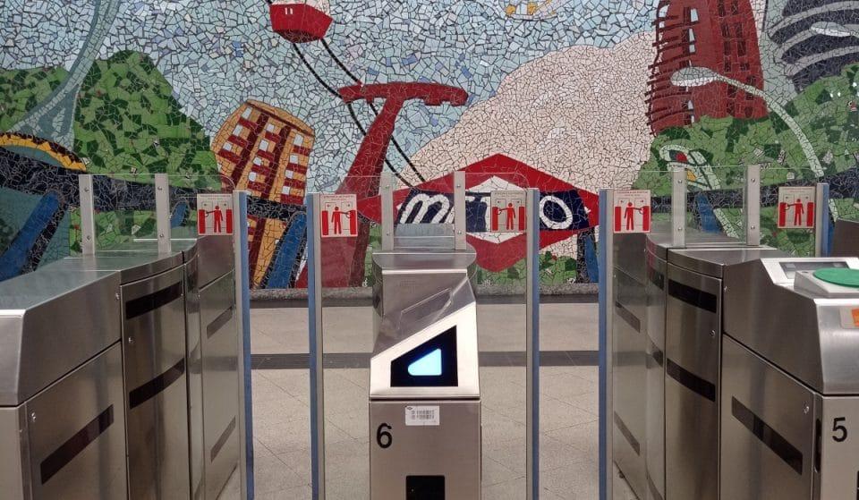 Ya han llegado los primeros tornos futuristas a Metro de Madrid