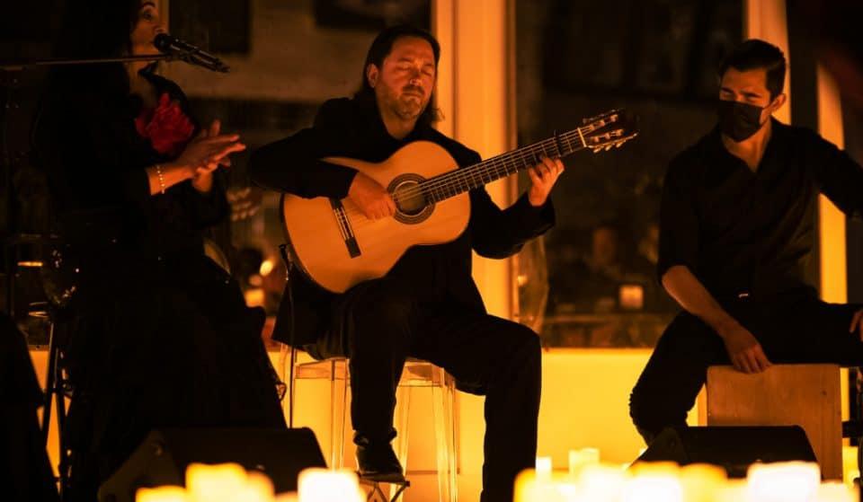 Homenaje a Paco de Lucía a la luz de las velas en Madrid