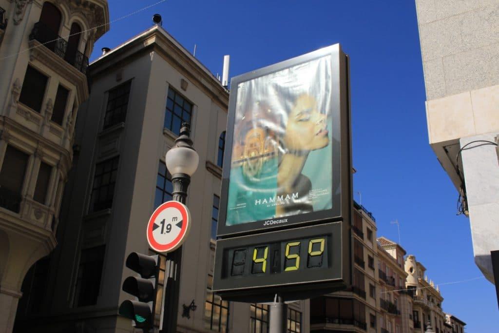 La temperatura media de Madrid ha subido casi 2 grados en la última década