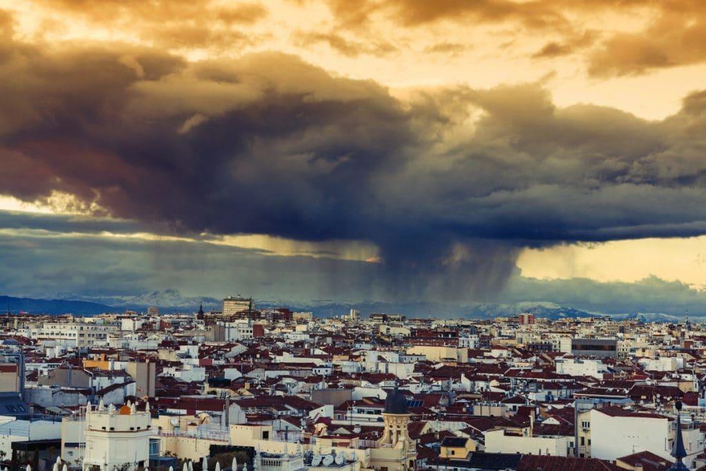 Tormentas y granizo: la previsión para esta tarde en Madrid