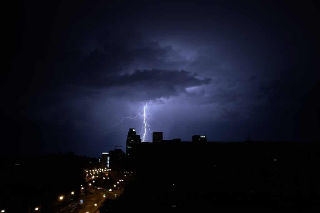 La tormenta de verano del martes al miércoles fue la más fuerte desde 1947