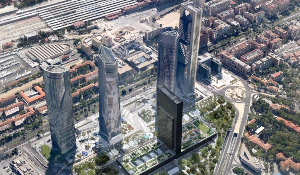 Cinco de los siete edificios más altos de España están en Madrid