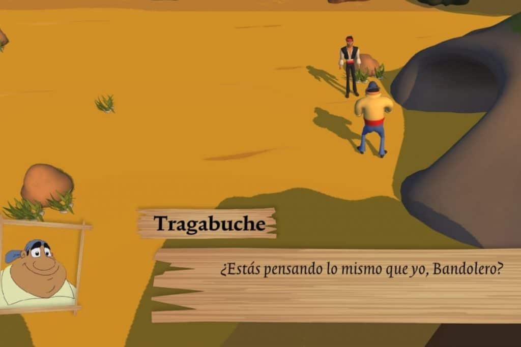 'Tragabuche, er videjuego' inspirado en Bandolero en el que recorres Andalucía