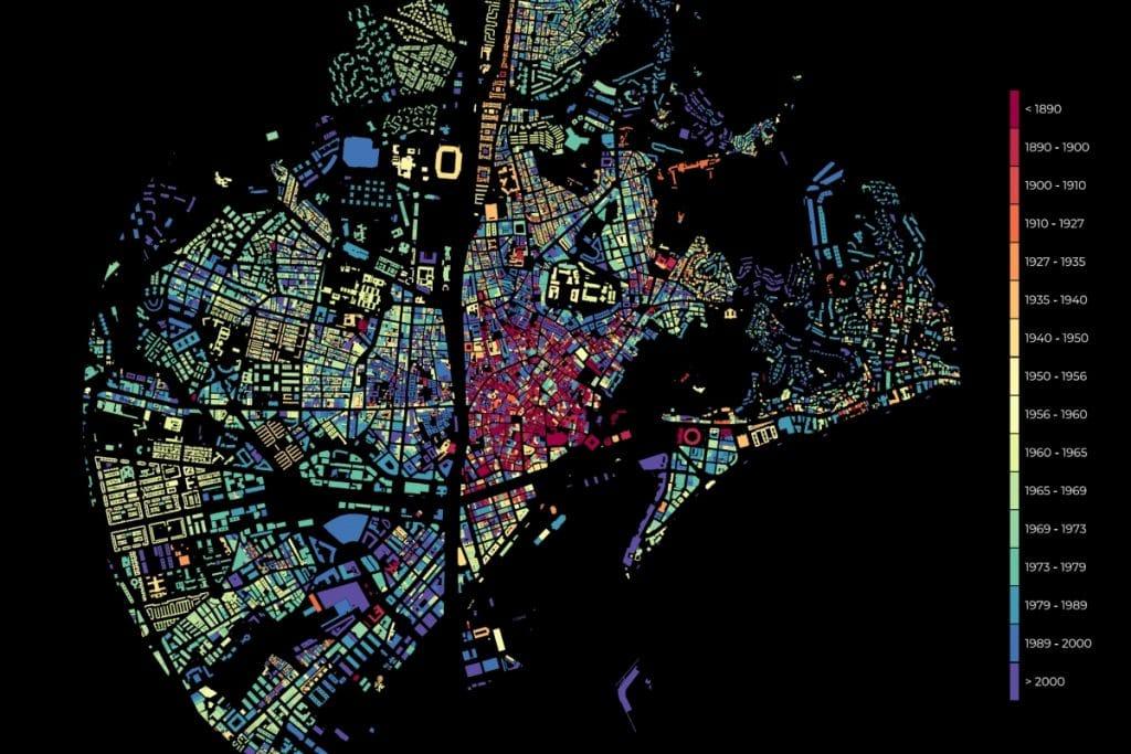 El increíble mapa que refleja el crecimiento urbano de Málaga
