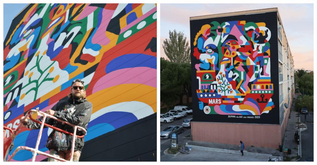 La cité Val Plan accueille une nouvelle fresque géante sur le thème de la solidarité