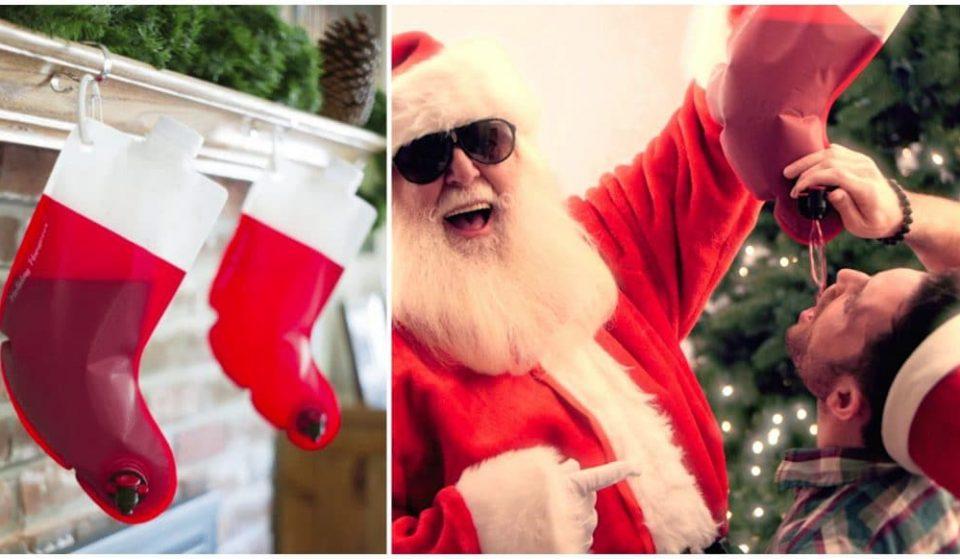 Insolite : des chaussettes de Noël Cubi à suspendre sur la cheminée !