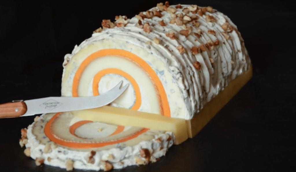 Noël 2020 : c'est le moment de tester la bûche de noël… au fromage !