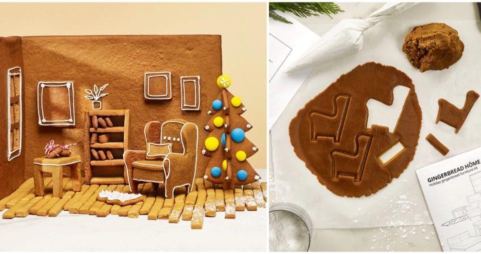 Noël : Ikéa lance un Kit GRATUIT pour créer votre salon en pain d'épices !