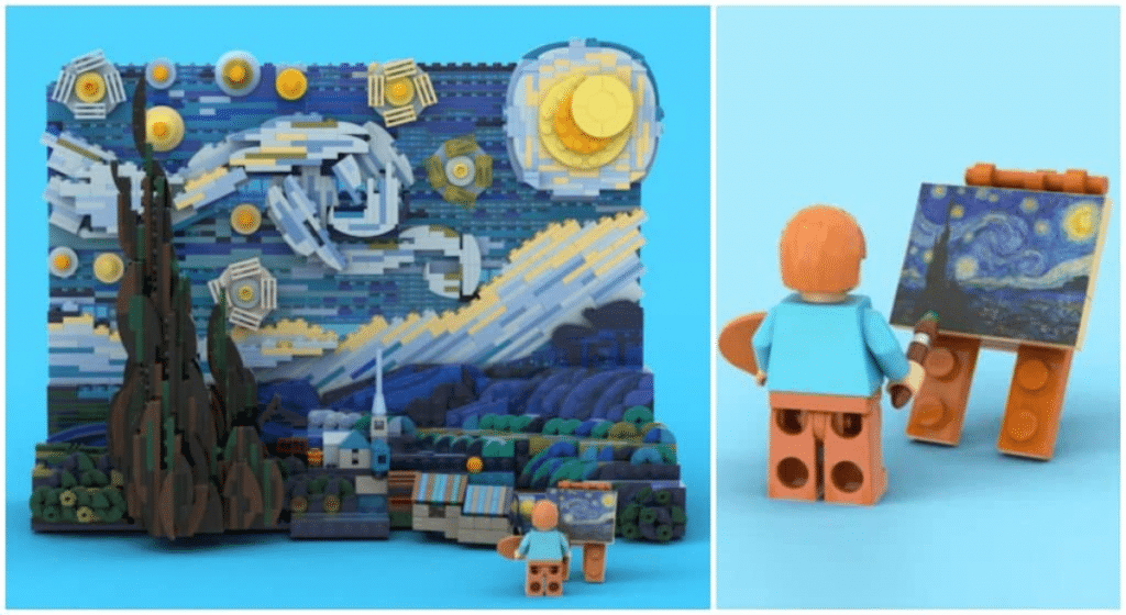 LEGO s'apprête à commercialiser un splendide set 3D de « La Nuit étoilée » de Vincent Van Gogh !