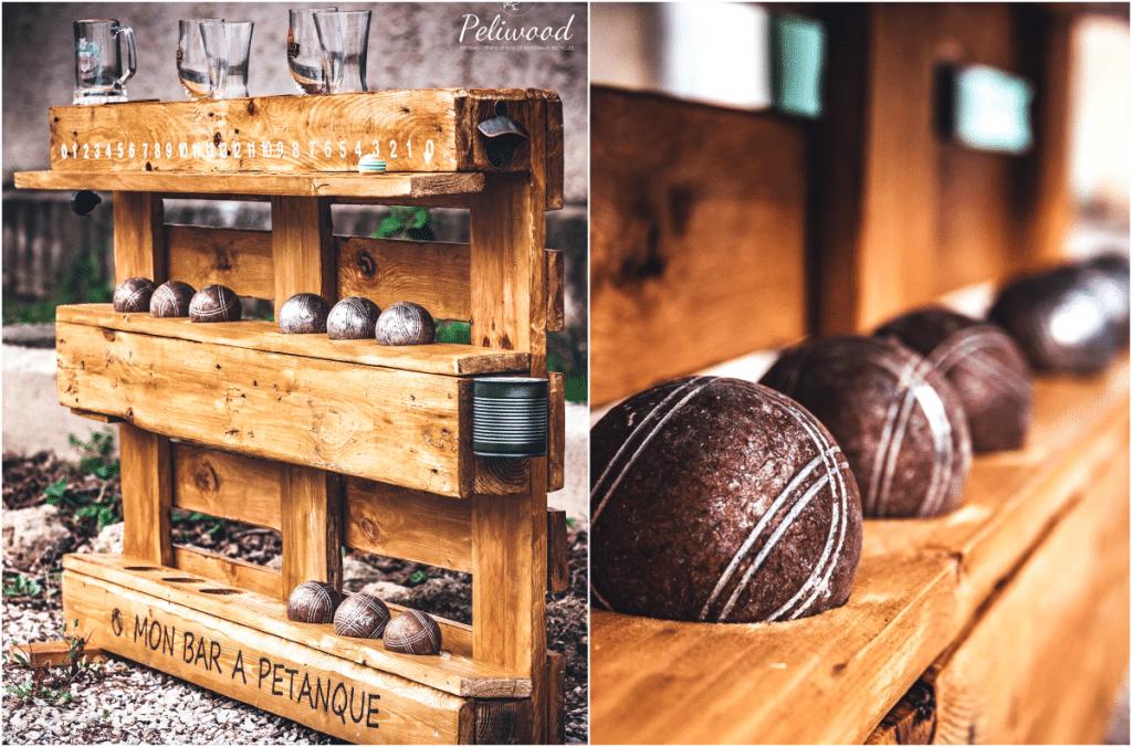 Une boutique des Bouches-du-Rhône imagine un Bar à Pétanque personnalisable à base de palettes !