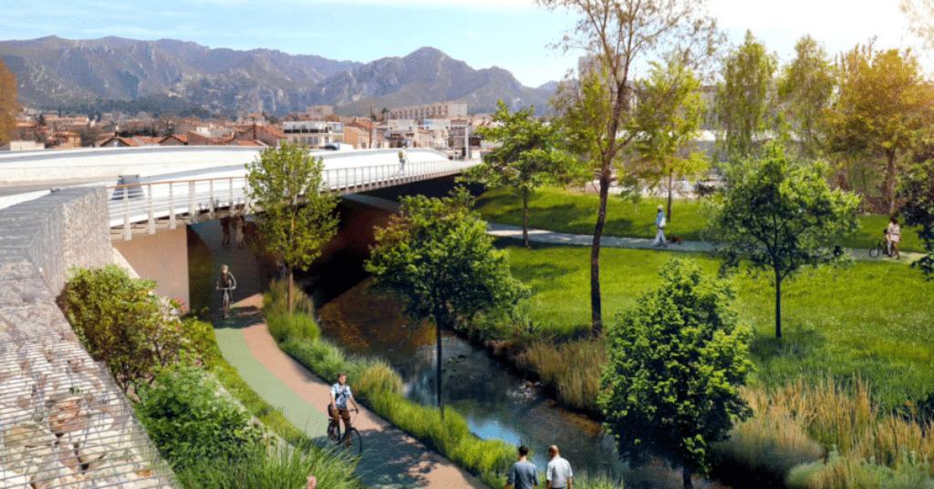 Marseille : Une grande Voie Verte va voir le jour le long du fleuve de l'Huveaune !