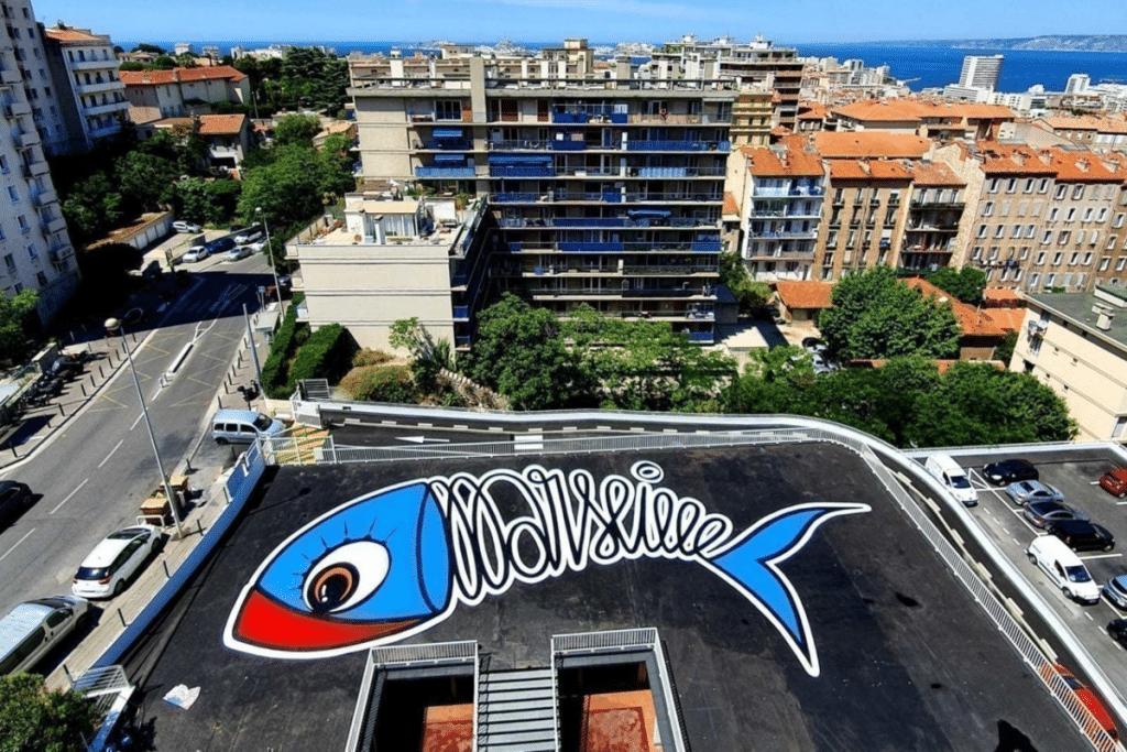 Une toute nouvelle Fresque géante de la Sardine est désormais visible à Marseille !