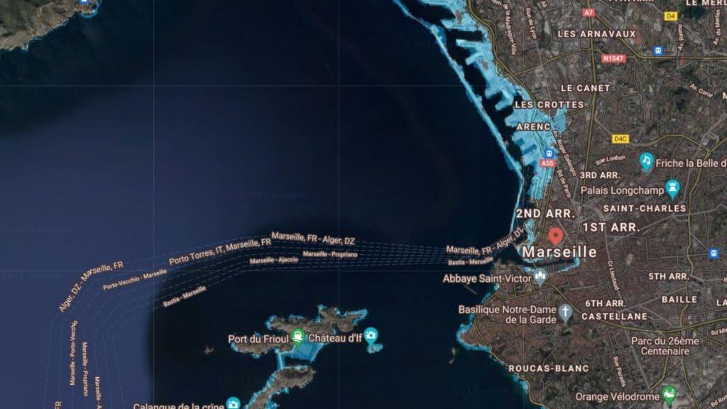 marseille montée du niveau de la mer eau réchauffement climatique