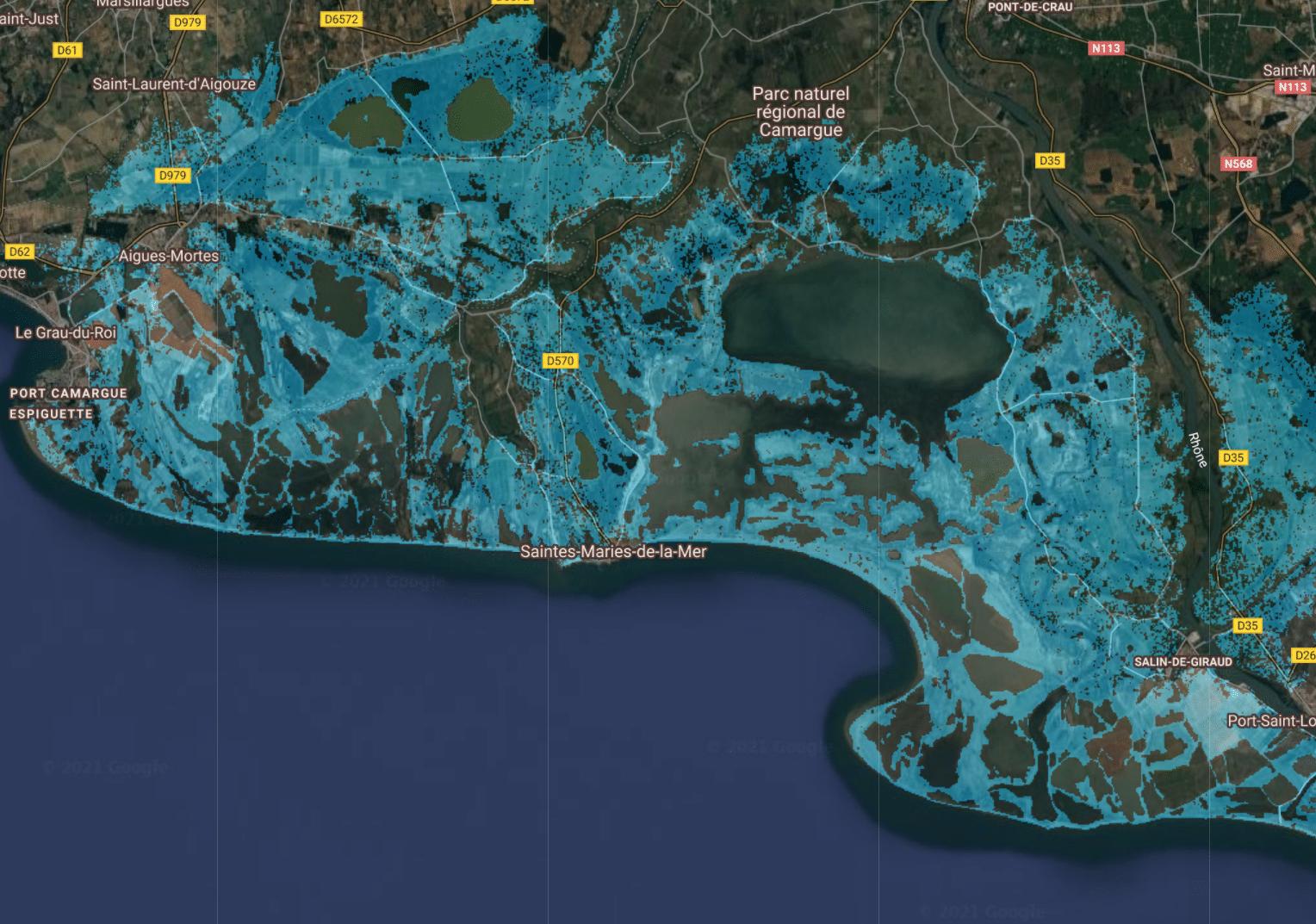 marseille niveau de l'eau montée mer 2