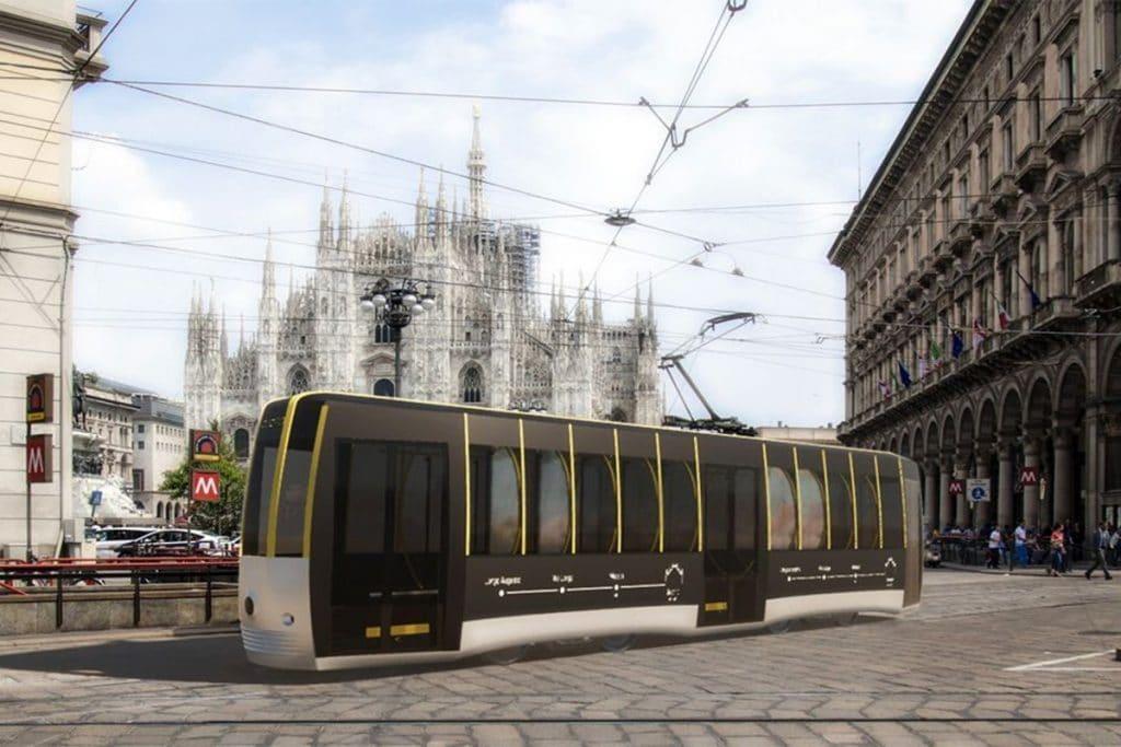 tram passerella milano