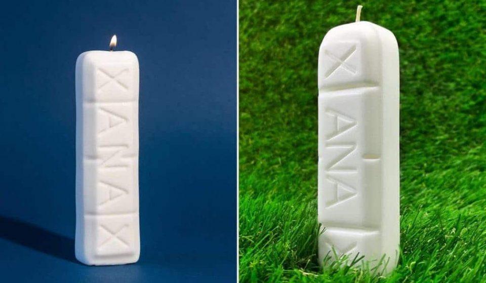 Insolito: una candela Xanax per rilassarsi dopo una giornata da dimenticare!