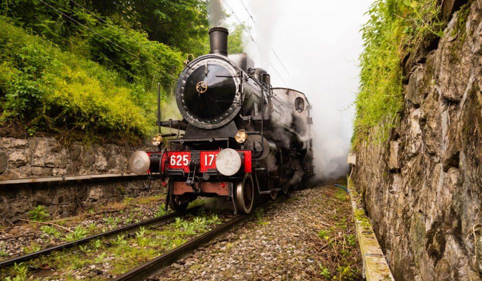 Questo mese potrai salire a bordo di un treno storico a vapore per un viaggio senza tempo