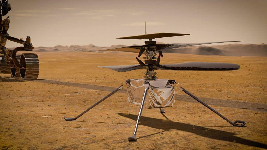 L'hélicoptère qui était attaché au rover Perseverance explore maintenant Mars