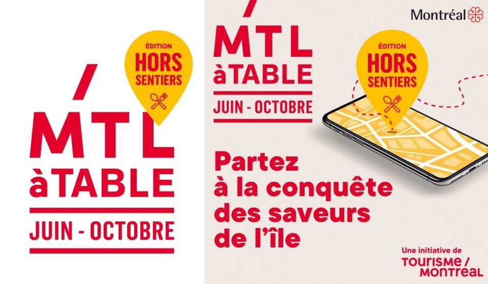 MTLàTable, édition Hors Sentiers : plus d'une centaine de restaurants sont prêts à vous accueillir!