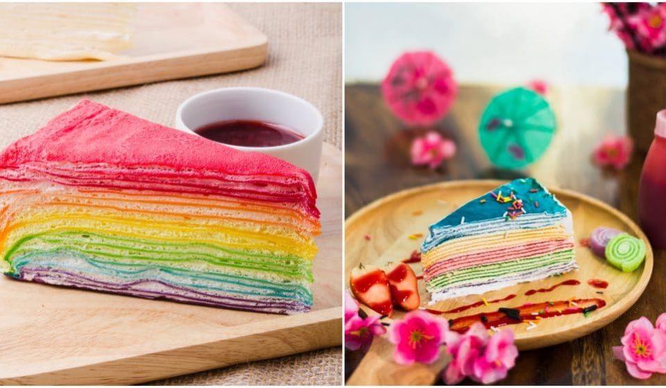 Chandeleur : la fabuleuse recette du Gâteau de Crêpes Arc-en-Ciel !