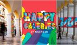 Les Arcades des Galeries Lafayette s'habillent de couleurs à l'occasion de Happy Galeries !