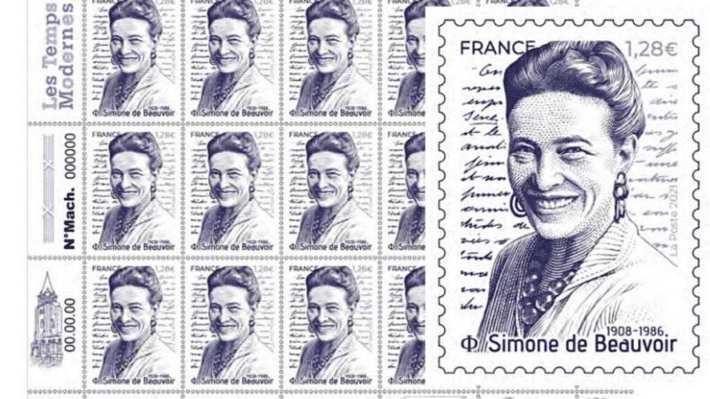 La Poste : Un timbre à l'effigie de Simone de Beauvoir va sortir le 8 mars 2021 !