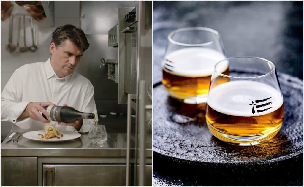 Un atelier de cuisine gastronomique accords mets & cidres Loïc Raison avec un chef étoilé !