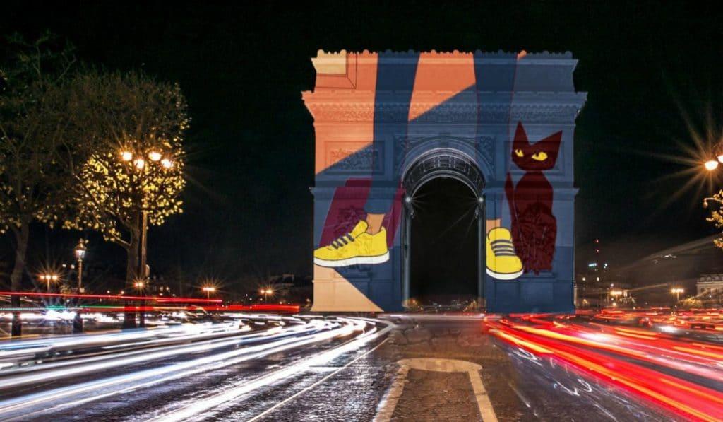 Un chat à l'honneur du spectacle son et lumière le plus attendu de l'année !
