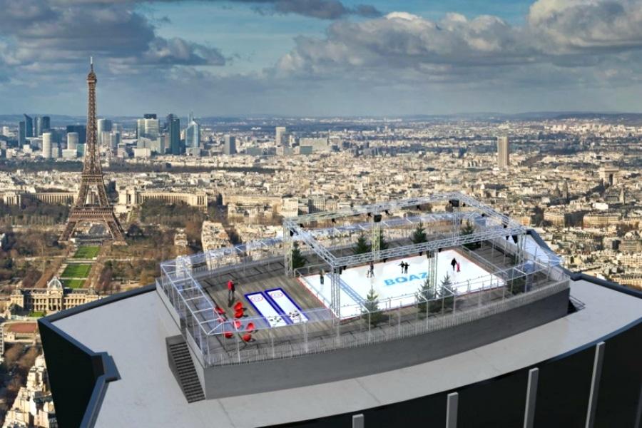 La patinoire aérienne de la Tour Montparnasse ré-ouvre !